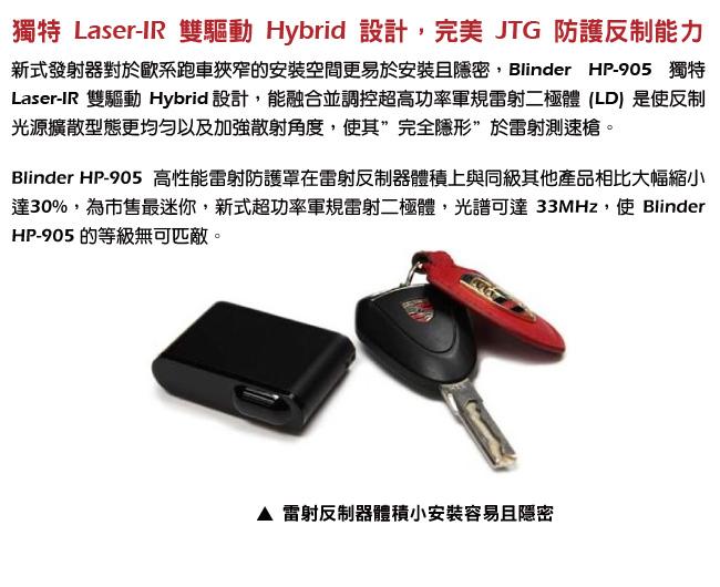 獨特 Laser-IR 雙驅動 Hybrid 設計,完美 JTG 防護反制能力